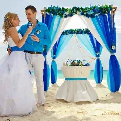Overseas white wedding ceremony decor