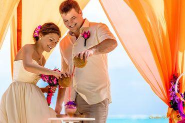 Overseas orange long wedding dresses