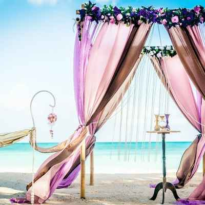 Overseas brown wedding ceremony decor