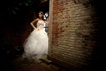 Themed ivory long wedding dresses