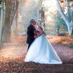 European autumn white long wedding dresses