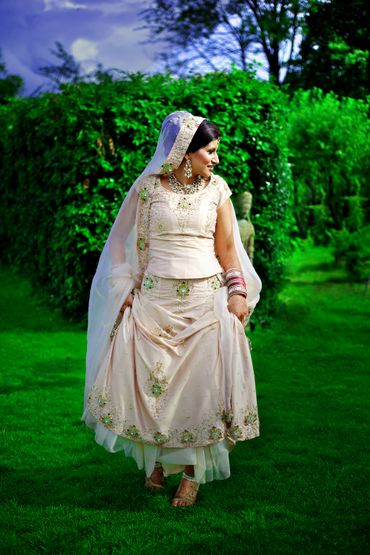Ethnical closed wedding dresses