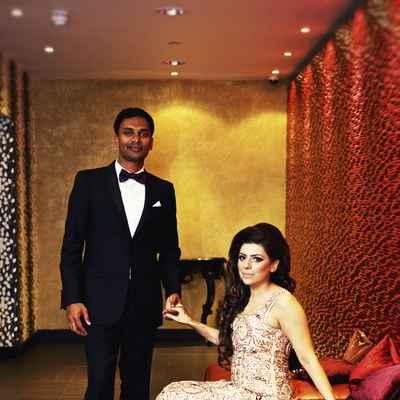 Ethnical gold long wedding dresses