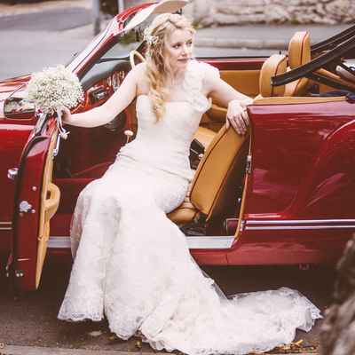 Vintage autumn white long wedding dresses