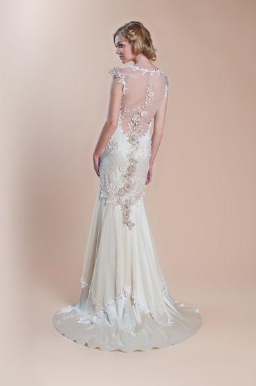 Vintage white long wedding dresses