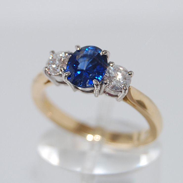 Coloured gemstone and diamond rings