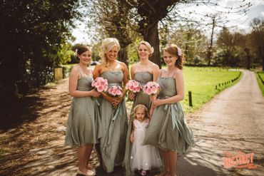 Green bridesmaids