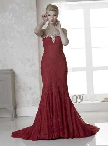 Red long wedding dresses