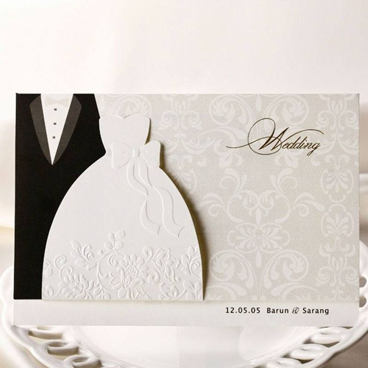 Bride and Groom Elegant Invitations