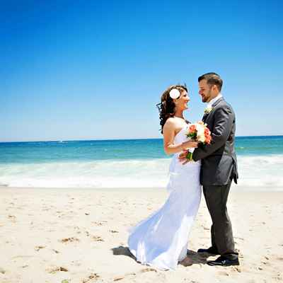 Beach summer white long wedding dresses