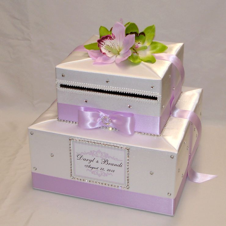 2 Tier custom made Wedding Card Boxes