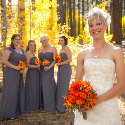 Autumn bridesmaids