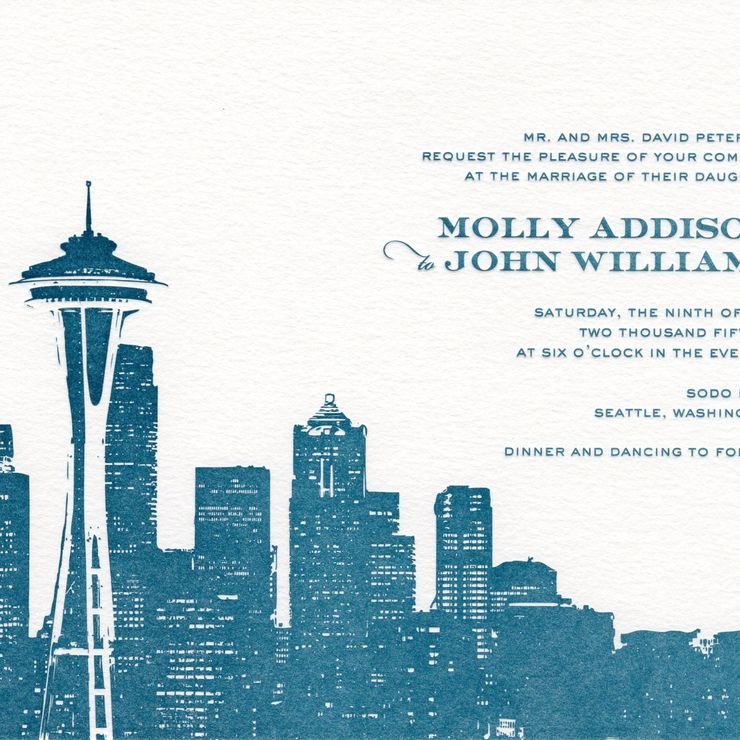 Seattle themed invitations