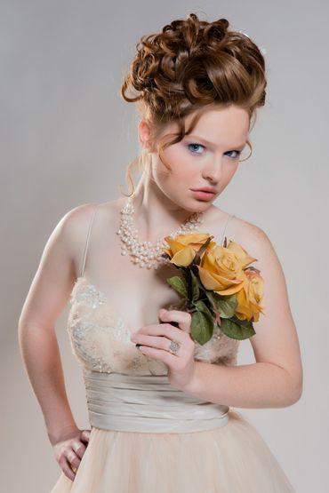 Ivory open wedding dresses