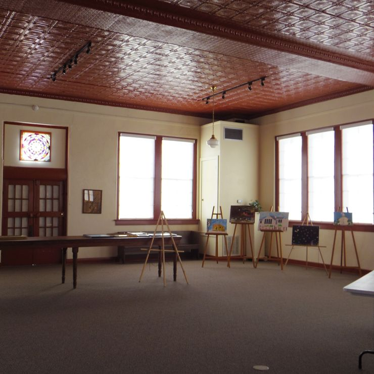 Museum Auditorium - from 1927 school building - great for larger rehearsal dinners and receptions up