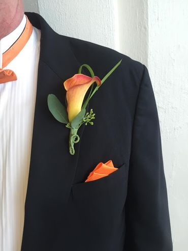 Orange groom style