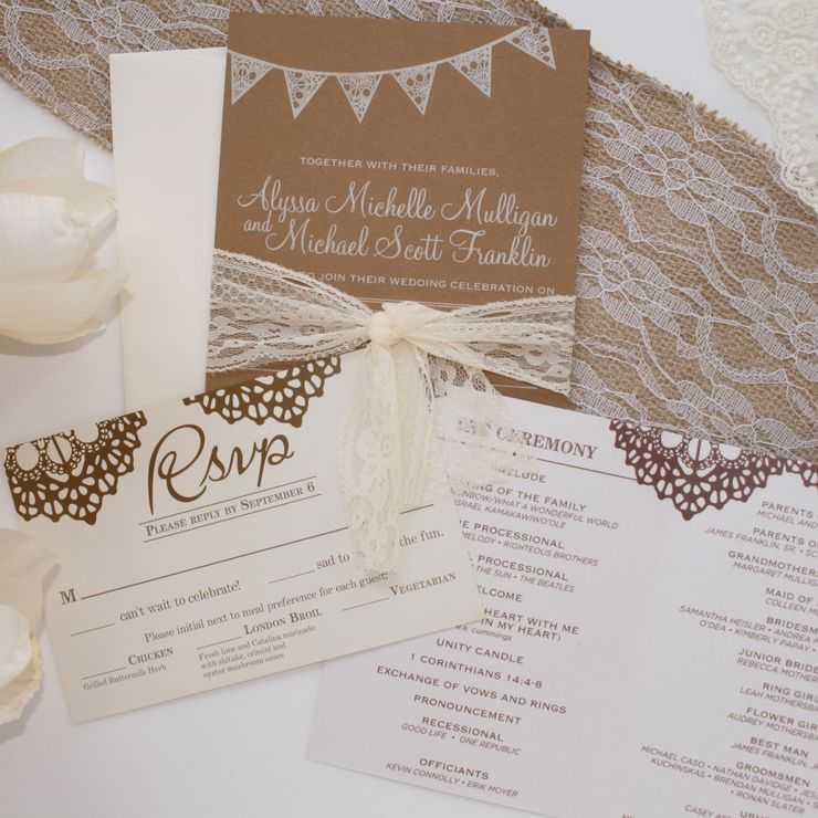 Rustic and Elegant Wedding Invitations