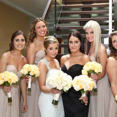 Brown bridesmaids