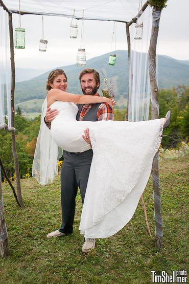 Rustic white groom style