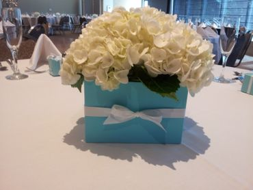 White wedding floral decor