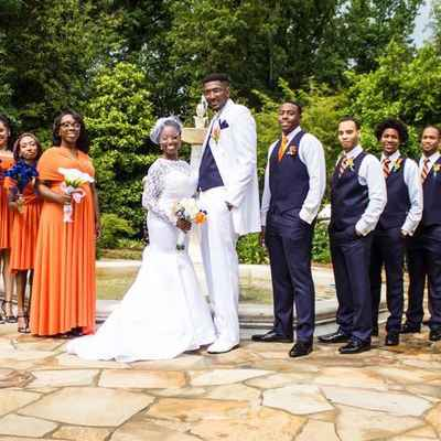 Orange wedding photo session ideas