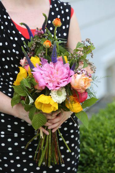 Blue alternative wedding bouquet