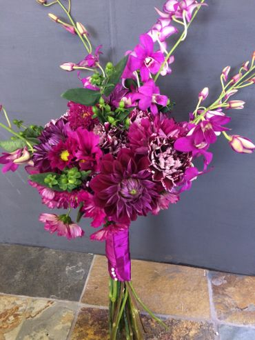 Purple alternative wedding bouquet