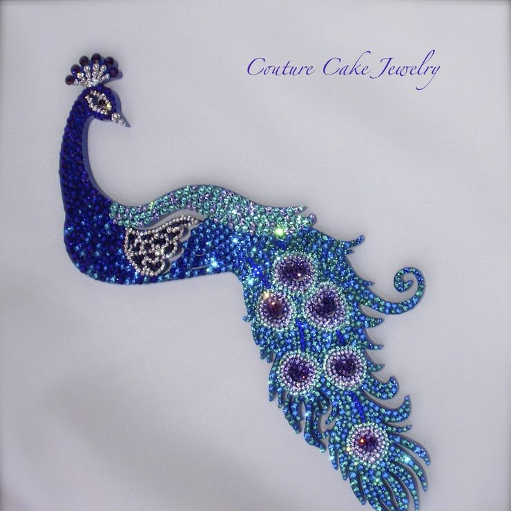 Custom Peacock Cake Topper
