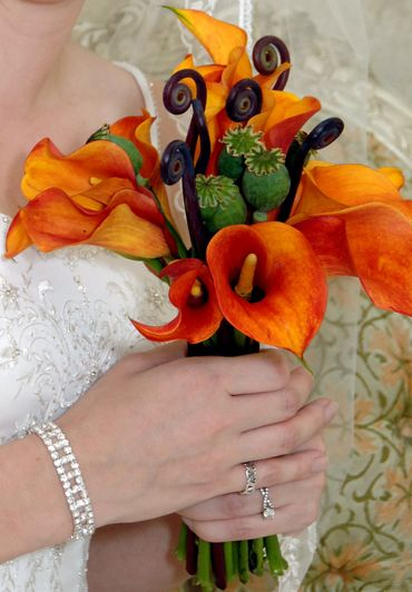 White calla wedding bouquet