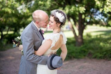 Grey bridal hair and make-up