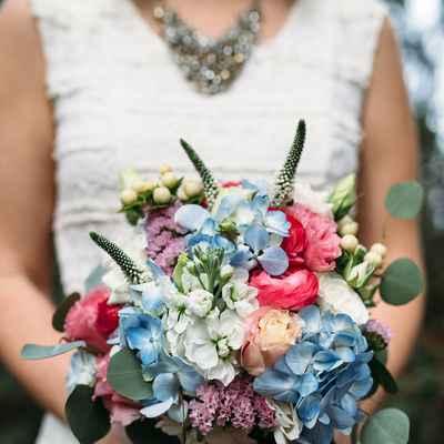 European white rose wedding bouquet