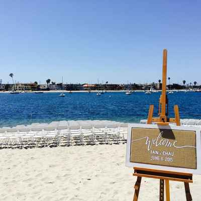 Marine wedding ceremony decor