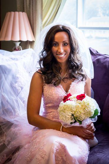 White carnation wedding bouquet