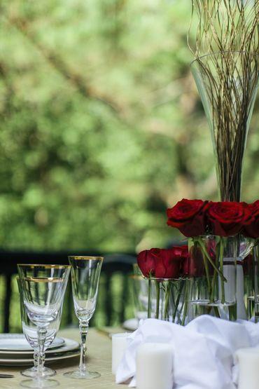Wedding floral decor