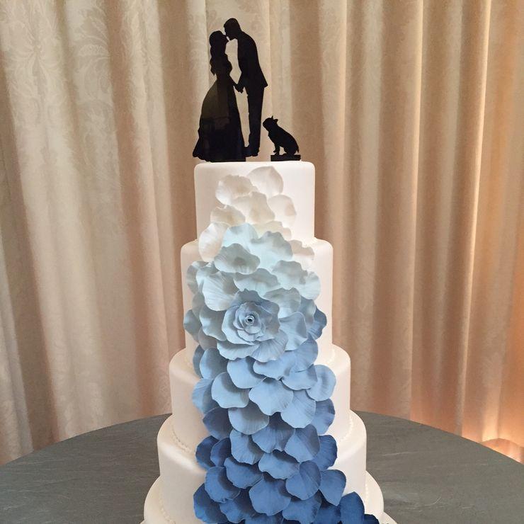 Tiered Ombré Petal Cake