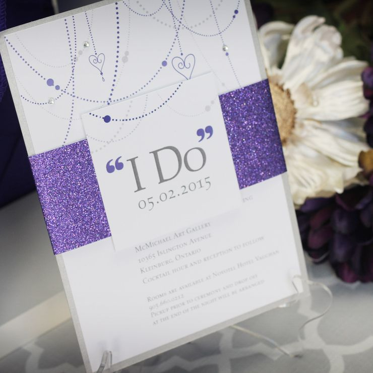 Sparkly 'I Do' Wedding Invitation