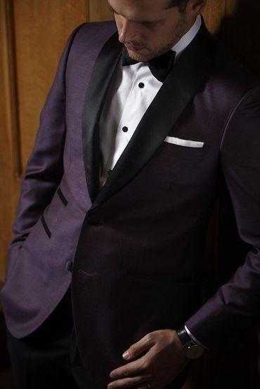 Purple groom style
