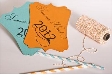 Orange wedding invitations