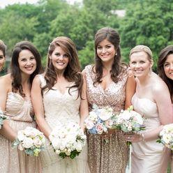 Outdoor summer ivory bridal hair and make-up