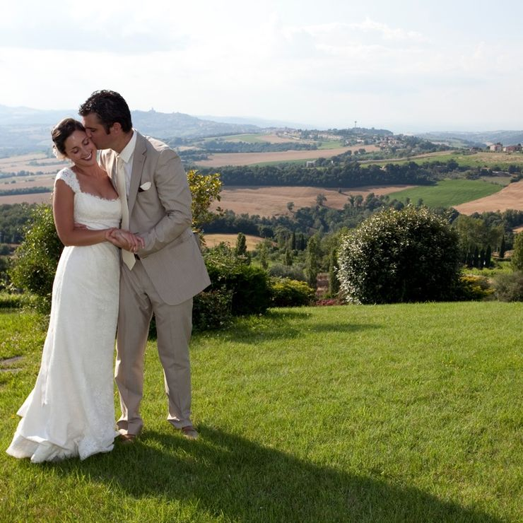 Outside wedding in Italy