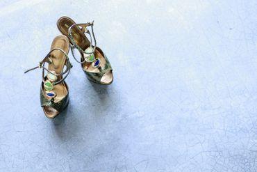 Green wedding shoes