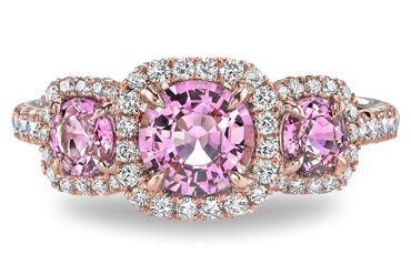 Pink wedding rings