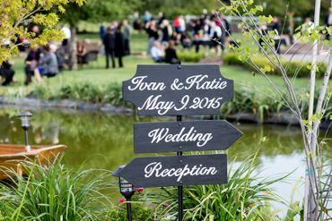Black wedding signs