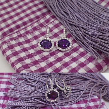 Purple bracelets, earrings, necklaces & other jewellery
