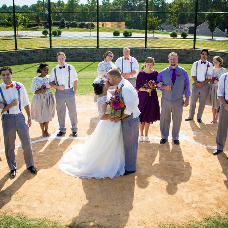 Mary and Josh 9/20/14 Baseball Themed Wedding! One Fun Wedding