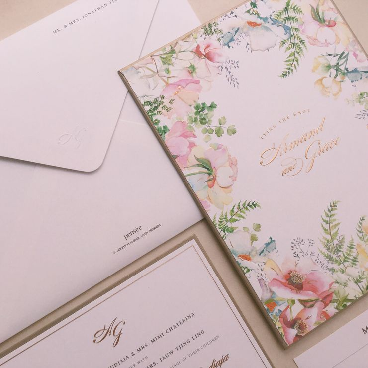 botanical rainbow + gold - armand & grace