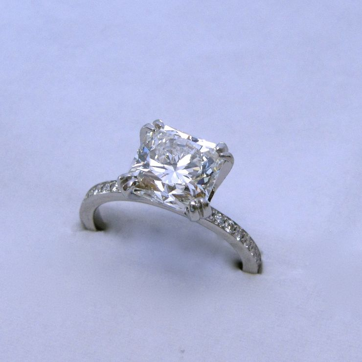 Heather's custom platinum 2.60ct HOF Dream diamond ring