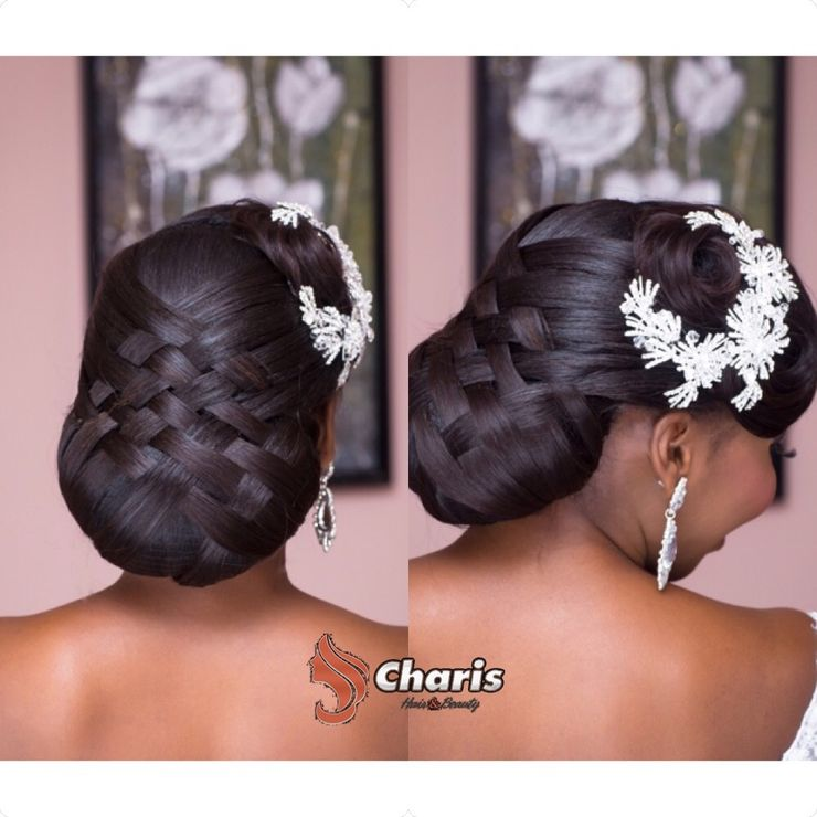 Tola's wedding hair on the 2nd of January, 2016 :)