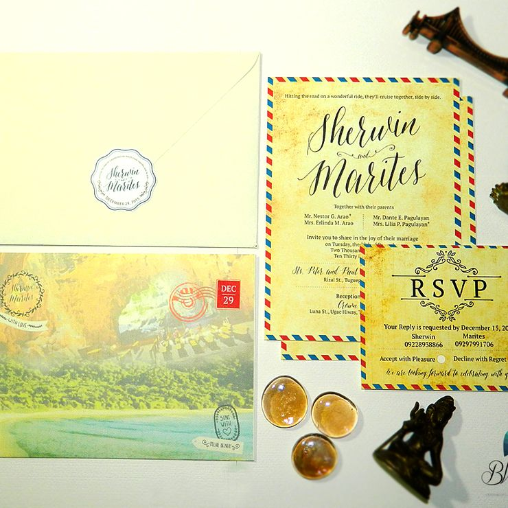 Theme: Travel Wedding Invitation