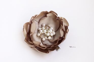 Brown wedding headpieces, veils, cover-ups & brooches